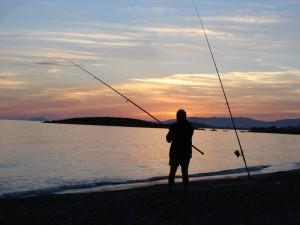 Pak Tua Memancing Ikan