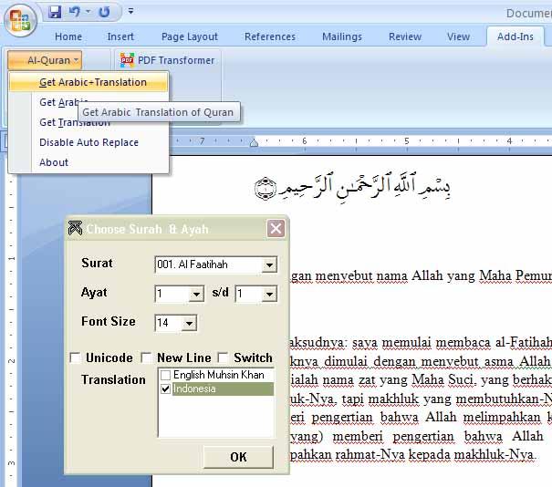 Al Quran Plug In